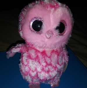 Ty Beanie Boos pink owl